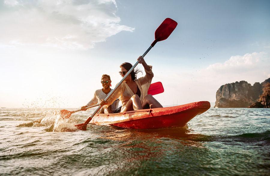 kano ile denizde eğlenme