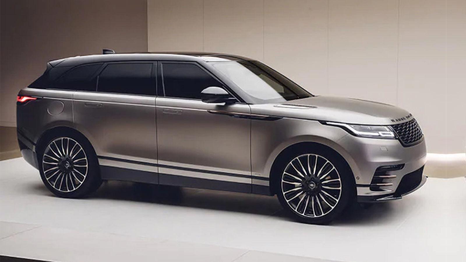Range Rover Velar, Londra Tasarım Müzesi'nde gösterimde