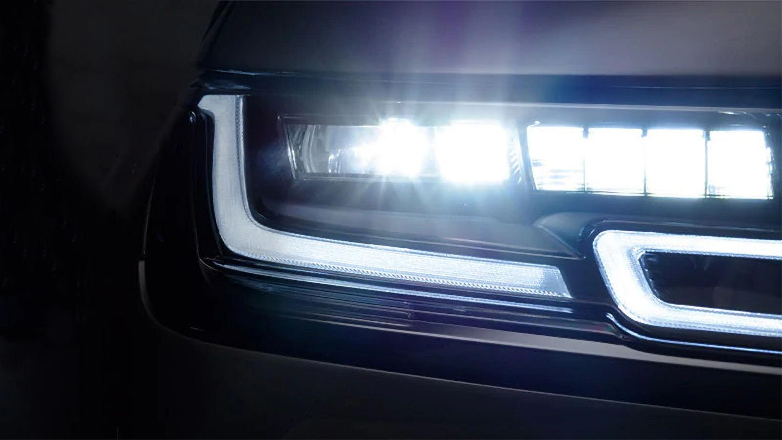 Lazer uzun far teknolojisine sahip Range Rover Velar LED farlar