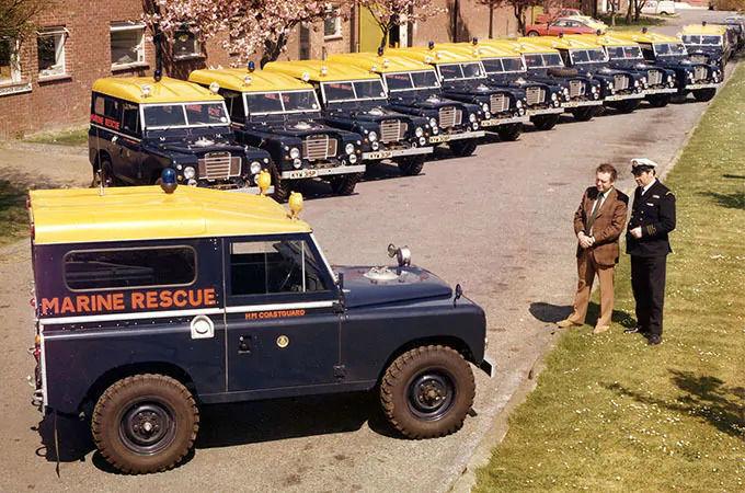 1988 yılında HM Sahil Güvenlik'e teslim edilen Land Rover Seri III Açılır Tavanlı araçlar