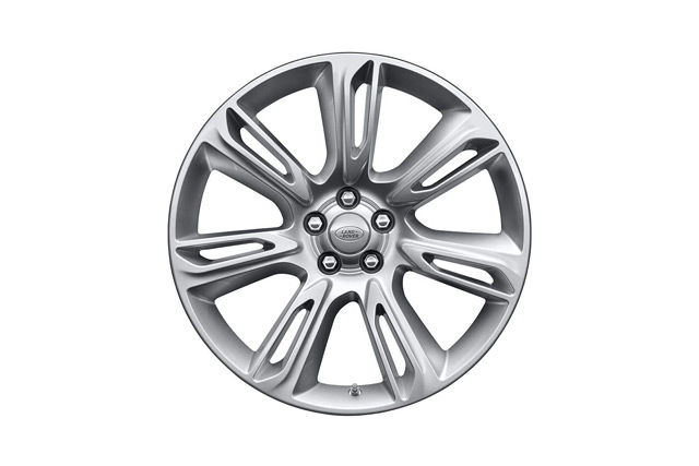 "20"" 7 SPOKE 'STYLE 7014' WHEELS WITH SPARKLE SILVER FINISH"