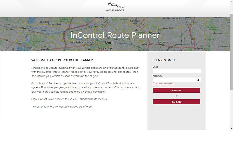 ACCESSING INCONTROL ROUTE PLANNER