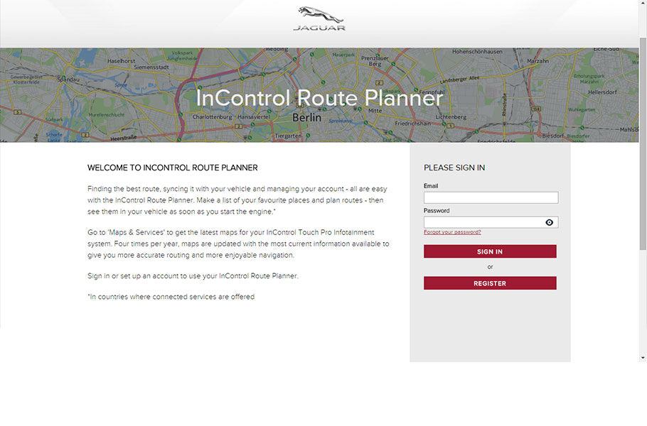 ACCESSING THE ROUTE PLANNER WEBSITE