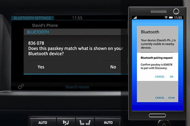 TOUCH: BLUETOOTH PHONE PAIRING